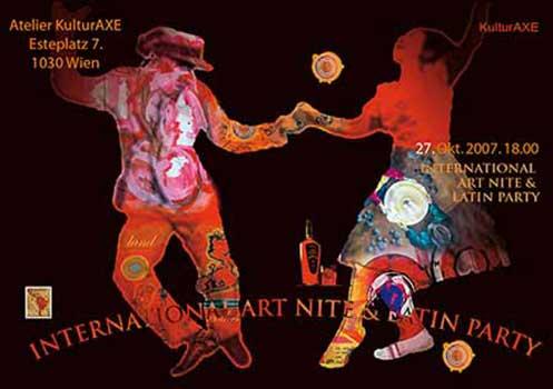 Einladung Art Nite, KulturAXE, Grafik Katalin Mesterhazy