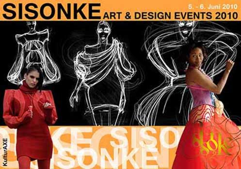 Einladungskarte SISONKE 2010, KulturAXE, Grafik: Mascha Fekete, Foto Szymon Olszowski, Illustration Akademie Bratislava